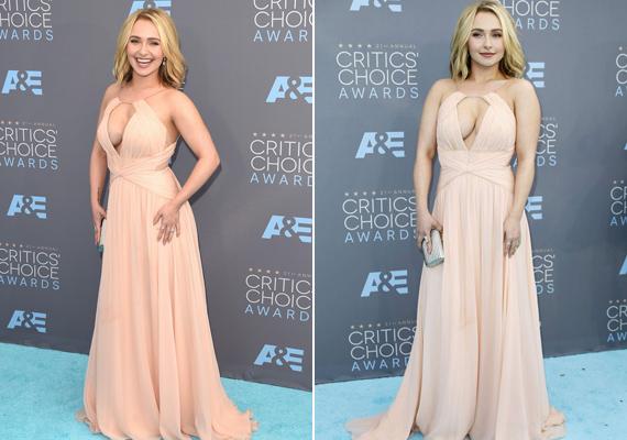 Hayden Panettiere keblei majd kibuggyantak ebből Maria Lucia Hohan ruhából. A színésznő azonban nem feszengett miatta, láthatóan remekül érezte magát.
