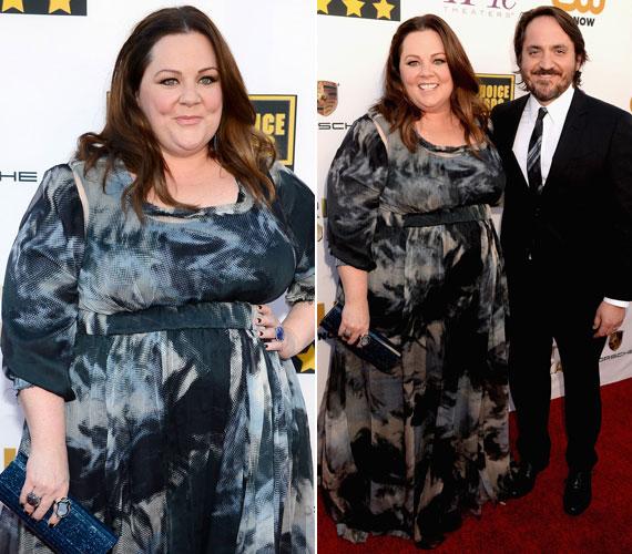 Melissa McCarthy, a Női szervek egyik főszereplője és férje, a színész Ben Falcone. A színésznő a ruháját saját maga tervezte, George Kotsiopoulos és Daniela Kurrle segítségével.