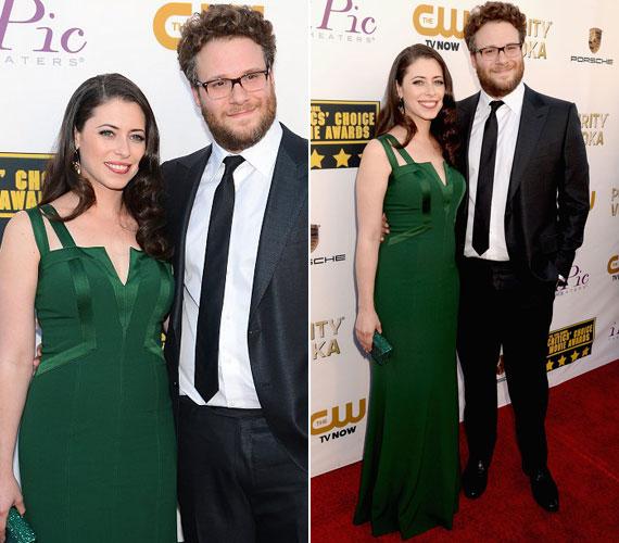 A Felkoppintva egyik sztárja, Seth Rogen és felesége, Lauren Miller színésznő.