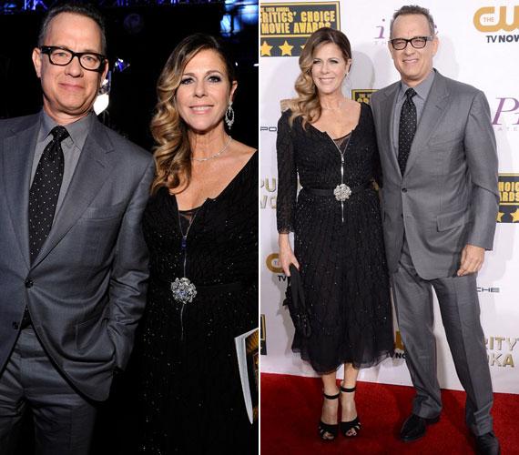 Tom Hanks és színésznő felesége, Rita Wilson.