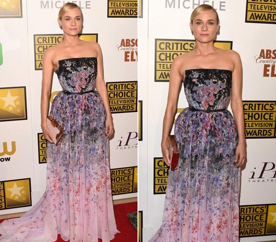 Diane Kruger megjelenését mindig az elegancia jellemzi, így volt ezzel a mostani gálán is. Színátmenetes Elie Saab ruhájában csak úgy csillogott.