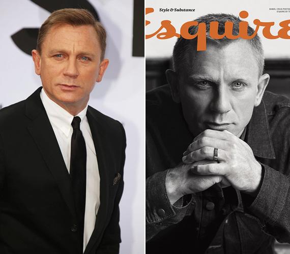 Daniel Craig sem az a klasszikus férfiszépség, vörös hajával, széles fejével és távol ülő szemeivel - de a 46 éves színész sármja mégis átüt a szerepein, elég csak a James Bond-filmekre gondolni, melyek utolsó darabja a 2012-es, a kritika által is dicsért Skyfall volt. Ugyanebben az évben - a fim apropóján - szerepelt több magazinban is, egyebek közt az Esquire címlapján.
