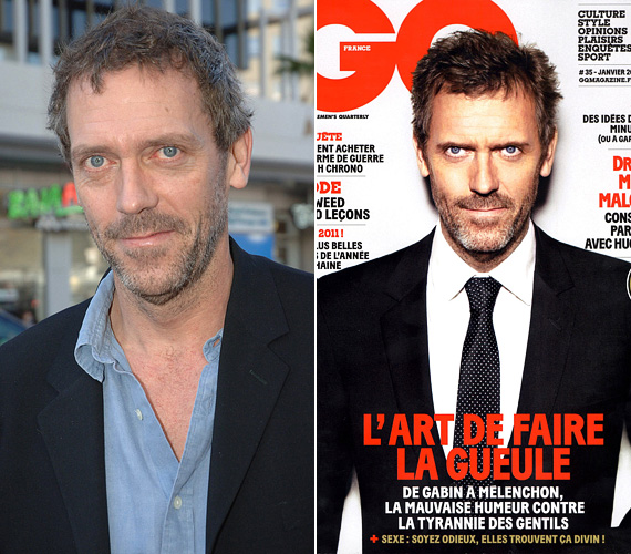 Hugh Laurie sokáig csak a vicces angol pasas volt a tévénézők szemében, aztán jött a Dr. House, és sok hölgy kezdett el álmodozni a mufurc dokiról, akiről azért kiderült, hogy vannak érzései is, és valamilyen fura módon szerethető. A 2004 és 2012 között futó sorozat után jobbára a zenei karrierjét építi, még Budapesten is fellépett, a rajongói nagy örömére, akik ezt az oldalát is imádják. A GQ címlapján több alkalommal is szerepelt, 2011 januárjában a francia szám jelent meg a fotójával.