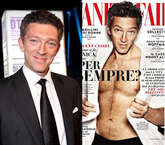 A francia Vincent Cassel sem olyan pasi, akitől első pillantásra elalélnak a nők, de a második pillantásra már lehet, hogy igen. Nem véletlenül tudta meghódítani a bombázó Monica Belluccit is, akivel 1999 és 2013 között voltak házasok, de azóta szétváltak útjaik. A 48 éves színész idén februárban mutatta meg szívtipró oldalát a Vanity Fair címlapján.