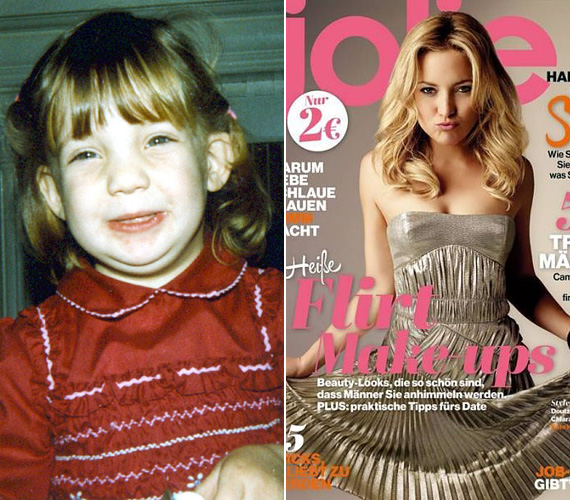 El sem hinné az ember, hogy ez az elálló fülű kislány a gyönyörű Kate Hudson, Goldie Hawn lánya. Bár a füle még mindig eláll, már megtanulta eltakarni a hajával, és arra is rájött, hogyan kell kissé furi mosoly helyett csábosan csücsöríteni.