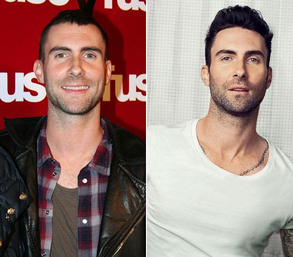 Adam Levine, a Maroon 5 énekese sem volt mindig szívtipró, amíg rá nem talált a stílusára. Az egykor kockás inges és bárgyú vigyorú sztár, aki szívdöglesztővé gyúrta a testét, mára a nők egyik nagy kedvence, annak ellenére, hogy tavaly megnősült.