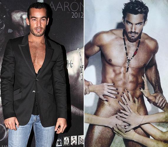Aarón Díaz, az RTL Klubon futó Teresa című sorozat sztárja egy erotikus töltetű naptárfotózás kedvéért dobta le a textilt.