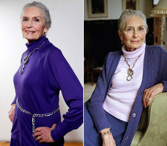 Daphne szerint tévhit, hogy a lila öregít, ő maga is gyakran hord ilyen színű ruhákat.