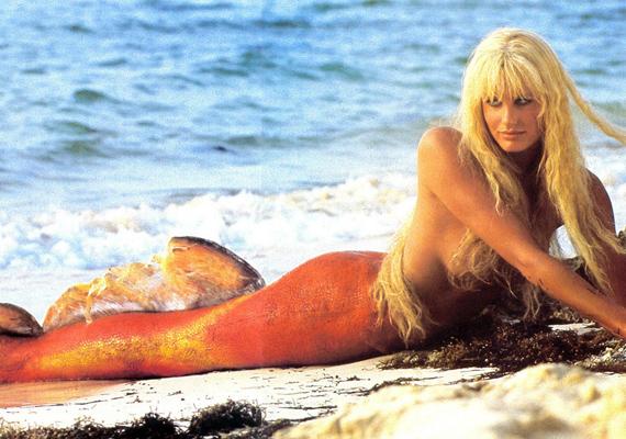 Gyönyörű hableány volt a '80-as évekbeli klasszikusban, A nagy csobbanásban.