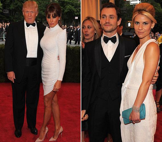 Nem kérdés, hogy Donald Trump és nála 24 évvel fiatalabb felesége, Melanie, vagy a színészpár Hugh Dancy és Claire Danes kettőse nyújtott-e szebb látványt.