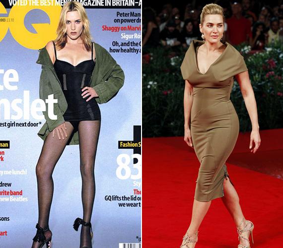 Kate Winslet sokat küzdött a kilókkal, és akár még ilyen vékonyra is lefogyhatott volna, ám ilyen hosszú combja, lába csak akkor lenne, ha újraszületne.
