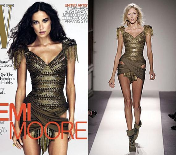 Demi Moore fejét egyszerűen rátették a jobb oldalon lévő modell testére.