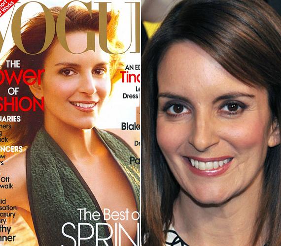 A Vogue nem szereti a nem tökéleteset, így Tina Fey arcáról egyszerűen letörölték a hatalmas heget.
