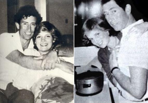 Mint bármelyik átlagos pár a nászútjukon - Diana hercegnő és Károly herceg összebújva hevernek a kanapén, főzőcskéznek, nevetgélnek.