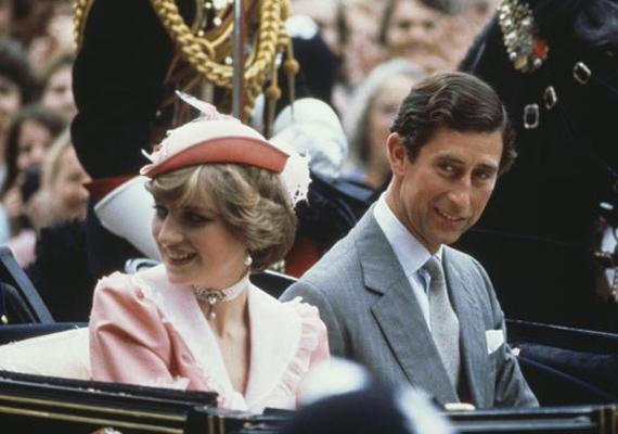 Így indultak el nászútjukra az esküvő után. A hercegnő bájos, barackszínű ruhája azóta is sokat emlegetett darab a divatvilágban.