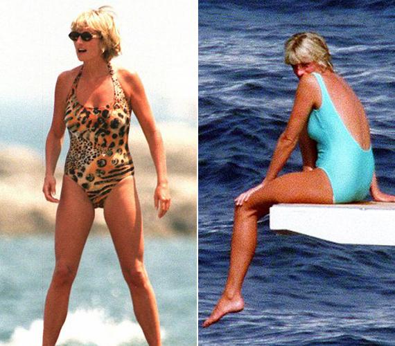 A jobb oldalon látható kép, amelyen Diana hercegnő egy jacht ugródeszkáján üldögél, csupán néhány nappal a halála előtt készült. A bal oldali a leghíresebb fürdőruhás képe, Jason Fraser volt a fotós.