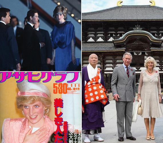 A hercegnőnek Japánban is sok rajongója volt, rákerült egy újság címlapjára is. 2008-ban Károly herceg már Camillával utazott a szigetországba.