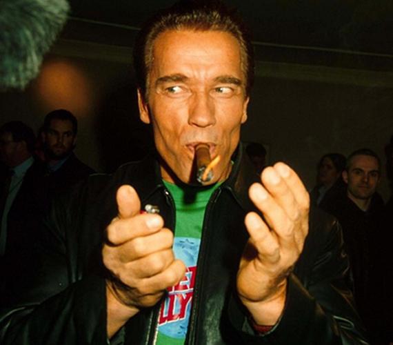 A ma már 67 éves Terminátor, Arnold Schwarzenegger a kép alapján nagyon jól mulatott ezen a kilencvenes években rendezett bulin.