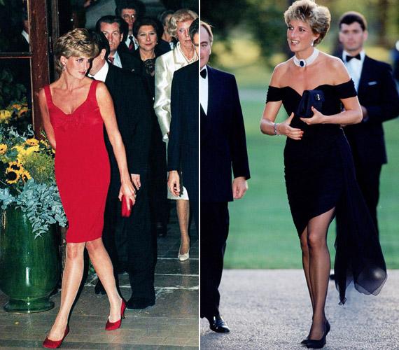 Szerette a szexisebb darabokat, a bíborChristian Lacroix ruhát 1995-ben viselte. Természetesen nem hiányozhatott a szekrényéből a kis fekete sem.