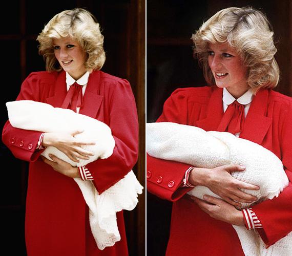 Diana hercegnő feltűnő volt ebben a piros ruhában, Harry herceg születésekor, 1984-ben. Szinte hihetetlen, hogy mindössze 23 éves volt ekkor.