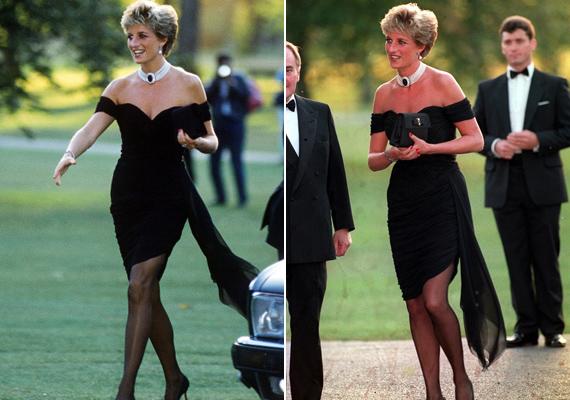 """Ez a ruha úgy híresült el, mint a """"bosszúállás ruhája"""". A hercegnő aznap viselte, amikor Károly herceget élő adásban szembesítették, hogy valóban megcsalja-e Dianát Kamillával."""