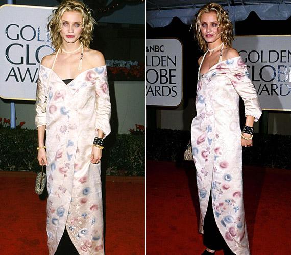 Cameron Diaz 1999-es kimonószerű szerelése sem nyűgözte le a kritikusokat.