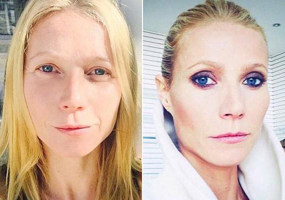 A 42 éves Gwyneth Paltrow előszeretettel posztol magáról smink nélküli képeket.