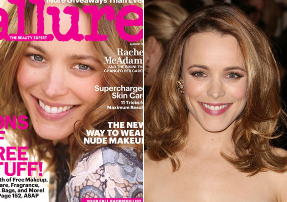 Az Allure magazin szereti azzal hirdetni magát, hogy a természetesség híve, így Rachel McAdams is festetlenül állt modellt.