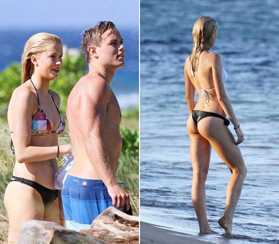 Alec Baldwin és Kim Basinger 18 éves lánya, Ireland nemcsak külsőleg hasonlít az édesanyjára, de máris a nyomdokaiba lépett: modellnek állt. Elnézve a bikinis fotóit nem is csodálkozunk.