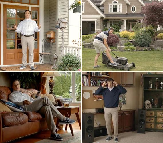A reklámfilm bepillantást enged a példás életet élő Doug nappalijába és kertjébe is - de természetesen ez csak a képzeletbeli otthona.