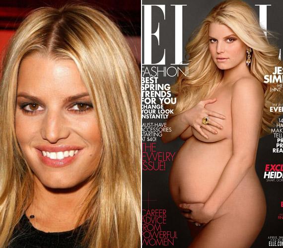 2012-ben Jessica Simpson is utánozta Demi Moore-t és a színésznő elhíresült pózát az Elle címlapján.