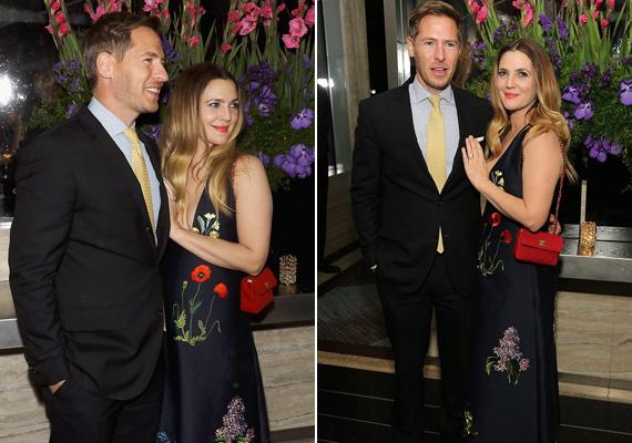 A gálára férje, Will Kopelman kísérte el, aki le sem bírta venni a szemét a gyönyörű színésznőről.
