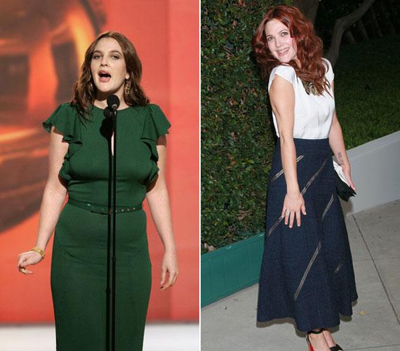 Drew Barrymore a Golden Globe-gálán még feszengett a szűk ruhában, most nyáron viszont büszkén mutatta meg karcsú alakját.