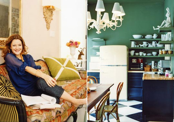 Drew Barrymore-nak New Yorkban is van egy kis apartmanja, melyet szintén megmutatott már a Domino magazin olvasóinak.