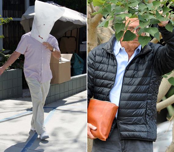 Néha jól jön a bújkáláshoz a természet segítsége vagy egy méretes zacskó is, Dustin Hoffman minden lehetőséget kihasznál.