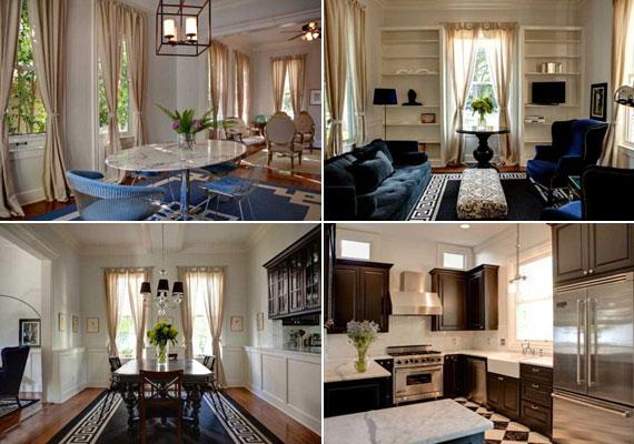 A színész új otthonában számtalan barátságos kis zugra lelhetünk: csalogató a világoskék reggelizősarok, a kényelmes kanapéval és fotelekkel berendezett nappali és az eleganciát sugárzó étkező is. A konyhában a modern és a régi keveredik.