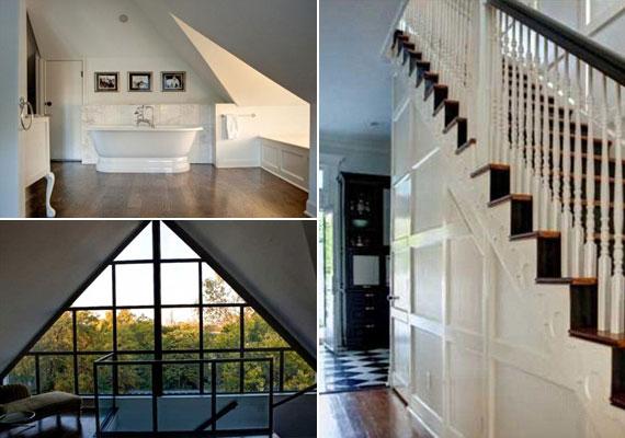 Mindegyik fürdőszobának megvan a maga egyedi berendezése, és a nagyméretű ablakoknak köszönhetően minden helyiséget eláraszt a napfény.