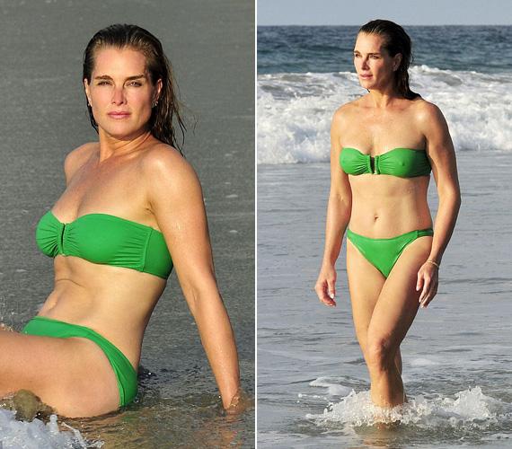 Brooke Shields májusban lesz kereken 50 éves, de alakjáért a fiatalok is megirigyelhetik. A kétgyermekes színésznő korábban úgy vélte, hogy koplalással maradhat karcsú, de aztán rájött, hogy kiegyensúlyozott étkezéssel és edzéssel jobban kordában tudja tartani alakját.