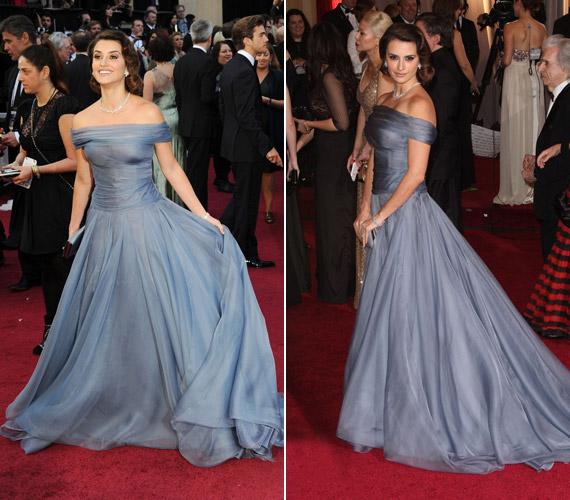A 38 éves Penelope Cruz a Girogio Armani által tervezett elegáns, kék ruhájával az Oscar-díjkiosztó sztárja volt.
