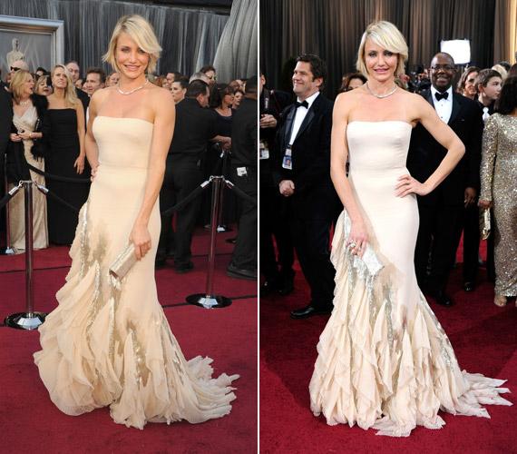 Cameron Diaz ezt az álomszép Gucci-darabot viselte az Oscar-díjátadón.