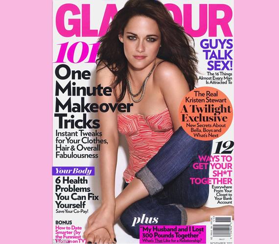 Az Alkonyat sztárja, Kristen Stewart is elég rosszul járt: teljes bal karját eltüntették a címlapról a Glamour ügybuzgó képszerkesztői.