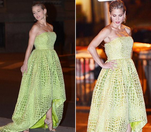 Ha már Madridban volt, egy divatfotózáson is részt vett.