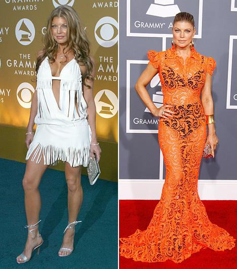 Fergie                         Fergie 2003-ban viselte a mellrésznél merészen szabott fehér ruhát. 2012-ben pedig az átlátszó, narancssárga csipkeruhában keltett feltűnést, ráadásul a ruha alá fekete alsóneműt választott, ami miatt feltehetően nem volt olyan ember, aki ne bámulta volna meg.