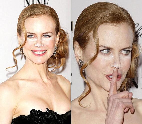 Nicole Kidmannak még az orra hegyére is kentek a porból, amitől kicsit olyan benyomást kelt, mintha drogozott volna.