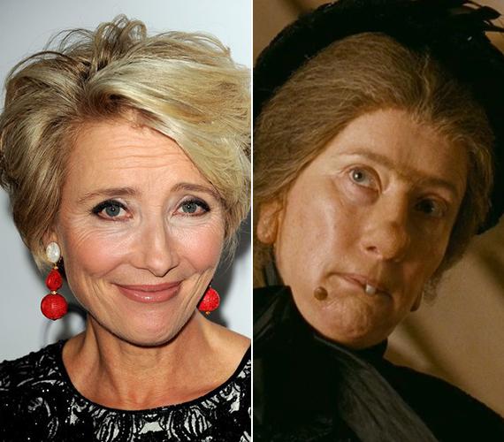 Nem ez volt az első eset, hogy Emma Thompson olyan szerepet vállalt, amelyhez naponta új maszkot kell készíteni. 2005-ben a Nanny MacPhee - A varázsdada című filmben ugyanígy sminkelték a forgatások előtt.