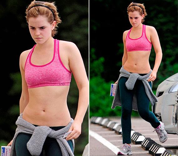 Emma Watsonnak a sportos stílus is jól áll, májusban laza tréningruhában kapták lencsevégre, amint az edzőterembe tartott.