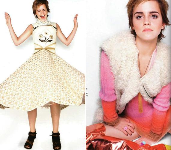 Emma jelenleg a The Perks of Being a Wallflower című drámát forgatja, szerencsére abban nem visel hasonlóan szörnyű, retrós ruhákat.
