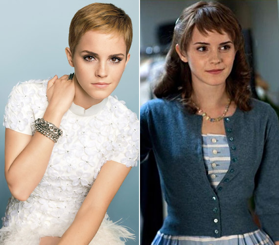 A film az ötvenes években játszódik - vörös parókájával Emma teljesen úgy néz ki, mint a korabeli fiatal hölgyek.
