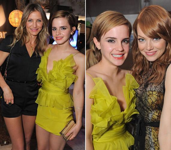 Cameron Diazzal és Emma Stone-nal is fotózkodott.