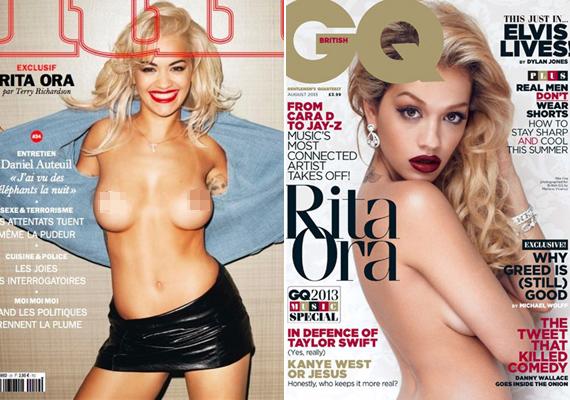 Rita Ora tegnap mindent megmutatott magából a Lui magazin címlapján, de nem ez volt az első alkalom. Korábban már a GQ magazin címlapján is szerepelt ruha nélkül.
